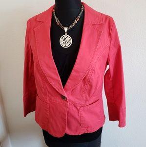 CAbi Coral/Salmon Colored Blazer Size 4.